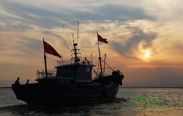 乐亭三岛之夕阳