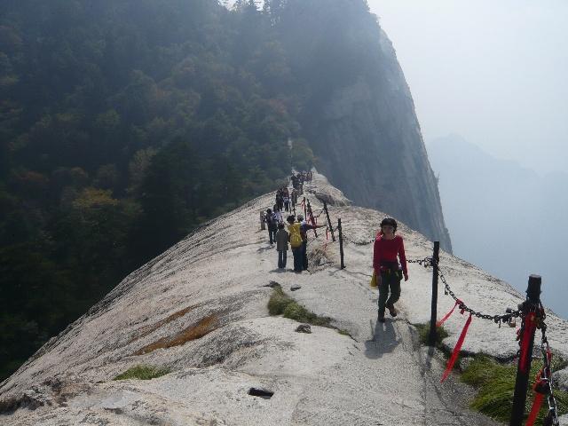 进华山西峰