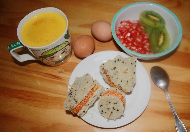 小学生快手早餐系列之五-----可爱三明治