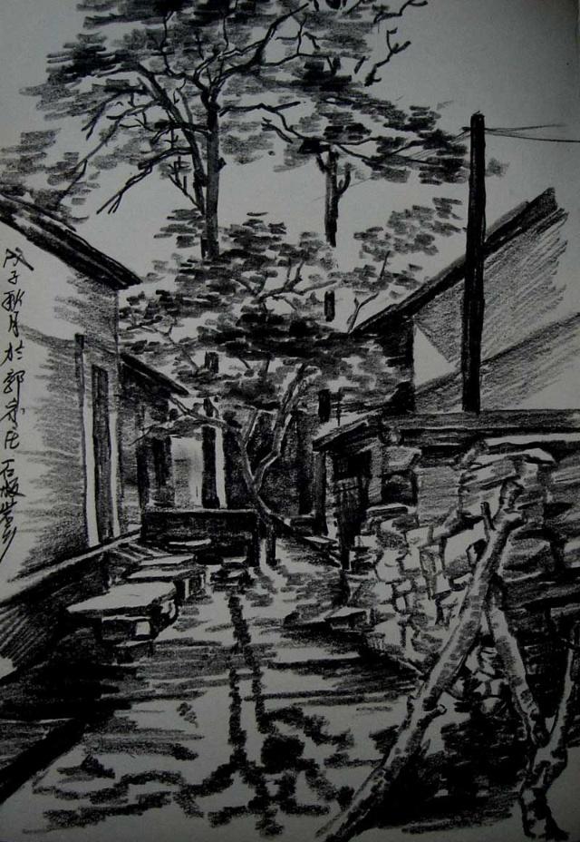 【大中国艺术部落 原创文学】 河南石板岩写生随笔