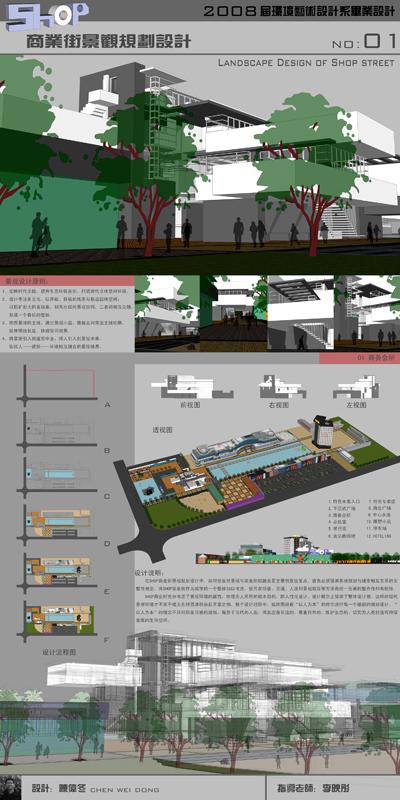 毕业展板——shop商业街设计&nbsp