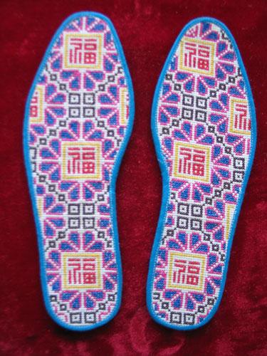 鞋垫凤凰十字绣图纸