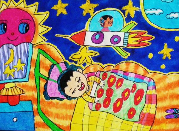 """二年级部""""家乡美""""学生绘画获得一等奖的作品展"""
