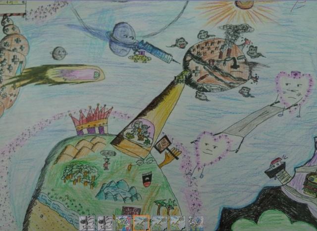 六年级课堂作业《科幻画》