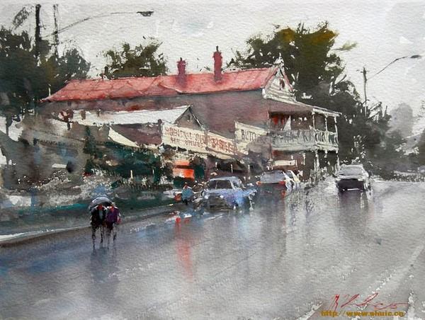 澳大利亚水彩画家约瑟夫