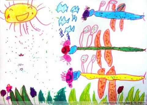 沙漠城堡儿童画
