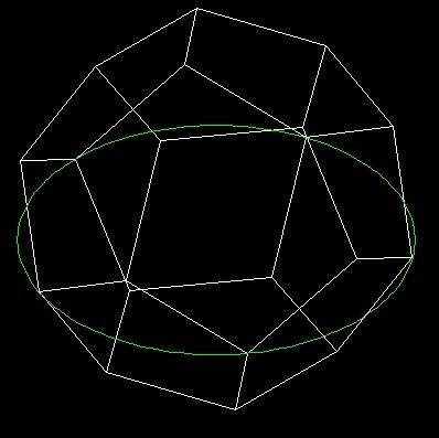 用autocad画正十二面体