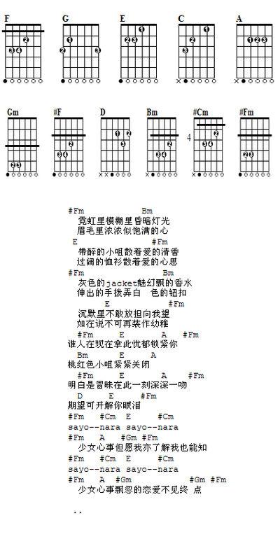 张国荣歌曲47张吉他谱 荣华绝代
