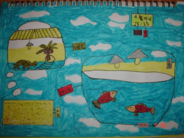 林哲龙三年级绘画作品:我家养的小动物-林哲龙-搜狐