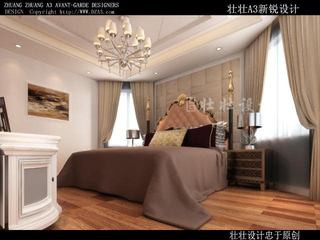 室内卧室隔断欧式窗户