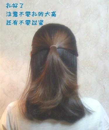 学扎头发简单发型步骤视频