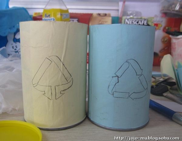 垃圾纸筒手工制作步骤