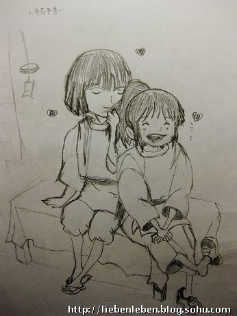 卡通画---千与千寻(图)
