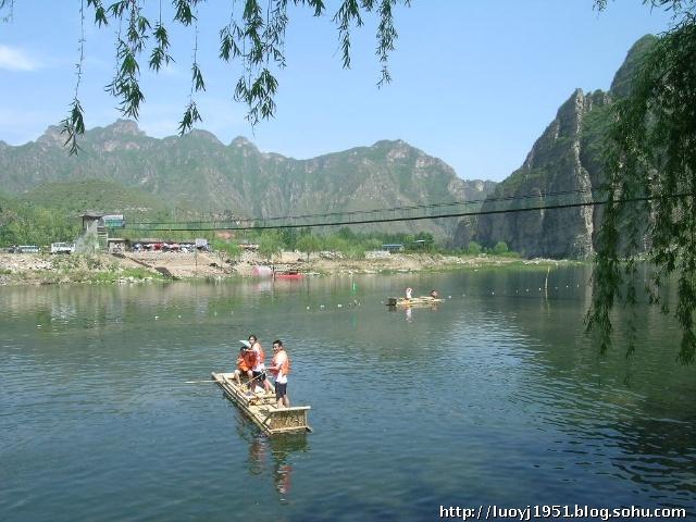 """具有""""北方桂林""""和""""北方阳朔""""之称的北京房山十渡风景区,山水"""